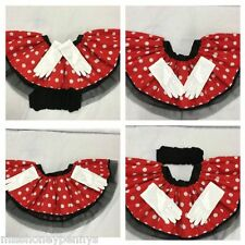 MINNIE MOUSE SKIRT TUTU EARS HEADBAND BOW RED WHITE POLKA DOT 80S FANCY DRESS