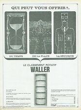 PUBLICITE ADVERTISING 115  1966  WALLER  le classement rotatif