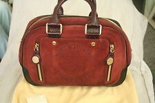 Louis Vuitton Large Suede Rust Havane Bowling Handbag (2006 Runway Collection)