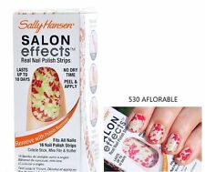 SALLY HANSEN Salon Effects NAIL POLISH STRIPS AFLORABLE #530 Floral Design NEW