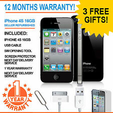Apple Iphone 4s 16 Gb-EE Naranja T-mobile Virgin Mobile Smart Phone Negro
