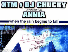 """12"""" - XTM & DJ Chucky Presents Annia - When The Rain Begins To Fall (SIGNED) NEW"""
