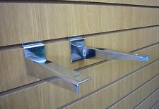 Slatwall Timber Shelf Bracket Chrome 350mm SOLD IN PAIRS