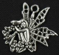 15pcs Tibetan Silver Angel Charms Pendants 25x23mm   (Lead-free)