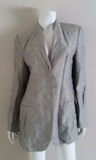 GIORGIO ARMANI Silver Grey Embroidered Brocade Jacket Blazer sz 10