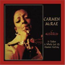 Carmen McRae - It Take a Whole Lot of Human [New CD] Canada - Import