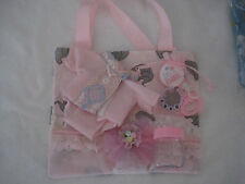 Handmade pink elephant design Diaper bag,  and accessories for baby dolls