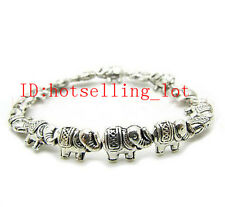 Beautiful New in tibet style tibetan silver Asian elephant bracelet jewelry