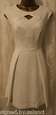 Karen Millen ZigZag Textured Bubble Jacquard Skater Cut Out Party Dress 12 40