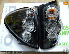 Black Chrome LED Rear Light kit for Mitsubishi L200 Mk5 Warrior tail lamp 05 06+