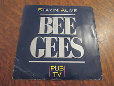 45 tours bee gees stayin' alive pub TV