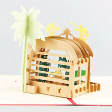 3D Pop Up Greeting Card Jesus Nativity Birthday Christmas Thanksgiving Gift