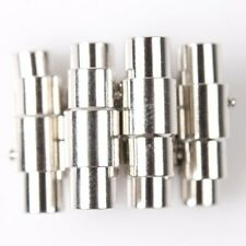 10pcs New Charms Plated Rhodium Embedded End Beads Cap Tips Magnetic Clasps LG