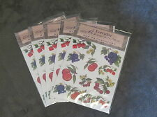 5 PACKS EVERYDAY MEMORIES RUB ON TRANSFER, FRUITE EMBELLISHMENT