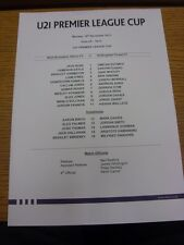 18/11/2013 West Bromwich Albion u21 V NOTTINGHAM FOREST u21 [u21 Premier League