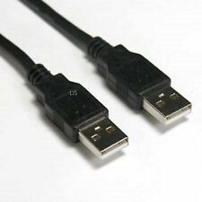 New USB 2.0 A Male M to Male Extension Cable Cord Black 6FT