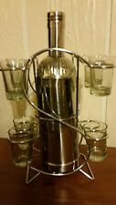 Southern Comfort Cocktail Shaker Mixer Stainless 3 Pc Plus shot glass display.