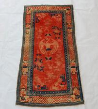 Antiguo chino alfombra hecha a mano 131X66cm (R19)
