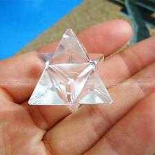 Natural Tibet AAAA Quartz crystal Stone Carved Point Sacred Merkaba Star Healing