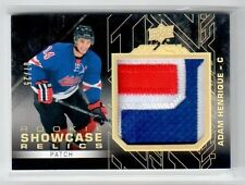 2015-16 UD Black Rookie Showcase ADAM HENRIQUE 3 color jersey patch card #07/25