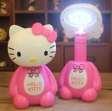 HelloKitty LED Energy-Saving Charging Desk Lamp Light Scalable Desktop Lamp Gift