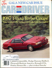 Car and Driver Magazine October 1986 1987 T-Bird Turbo Coupe VGEX 122915jhe