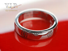 "CARTIER LOGO ""HAPPY BIRTHDAY"" ALLIANCE RING EHERING 18K WHITE GOLD WEDDING BAND"