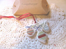 Longaberger All The Trimmings Ornaments Tie On