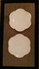 SET OF 2 ESTE CE ITALY ITALIAN SCALLOPED PLATE PLATTER GOLD TRIM