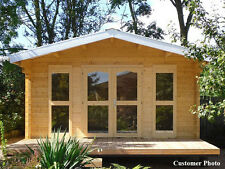 "BZB Log Cabin Kit, Pool or Garden House, 14'4""x11'4"", 161 Sq.Ft. 2-3/4"" Walls"