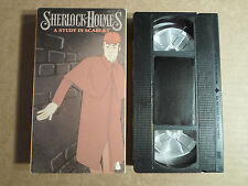 Tested ! Sherlock Holmes VHS Cartoon/Anime *A Study in Scarlet CVA 186 Detective
