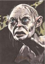 """The Hobbit An Unexpected Journey - Ted Dastick Jr """"Gollum"""" Sketch Card"""
