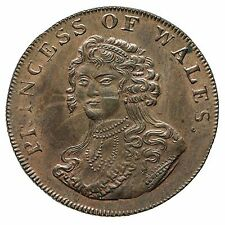 MIDDLESEX PRINCESS OF WALES HALFPENNY TOKEN 1795