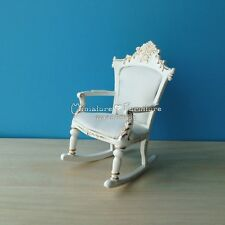 1 Inch Scale Dollhouse Miniature Furniture Handcrafted Rocking Chair Nursery