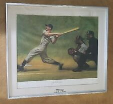 Joe DiMaggio Autograph Signed & Numbered 1066 Lithograph Harvey Dinnerstein 1974
