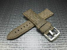 22mm PYTHON Skin Leather Strap Charcoal Grey Band Tang Buckle Seamaster
