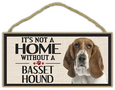 Wood Sign: It's Not A Home Without A BASSET HOUND   Dogs, Gifts, Decorations
