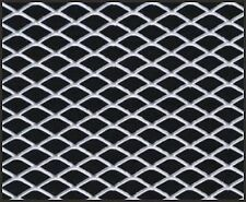 "12"" X 48"" UNIVERSAL ALUMINUM GRILL GRILLE DIAMOND CUSTOM MESH SECTION KIT SILVER"