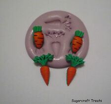 Carrots Garden Rabbit Veg Easter Silicone Mould Sugarcraft, Cup Cake,Crafts