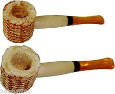 Classic Original Natural Small Corn Cob Tobacco Smoking Pipes - 2 Pipes!