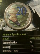 2013 20 cent coin Hyper Metallic Coloured UNC SET!!! NOT JUST ONE COIN!!!
