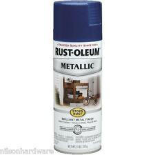 3 Pk 11 Oz Cobalt Blue RustOleum Stops Rust Metallic Spray Paint 7251-830