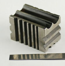 Solid Steel Doming Dapping Block with LINES CHANNELS V GROOVED CURVED JEWEELLERY