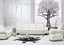 black and white tree of life peace tapestry throw wall hanging curtain bedspread