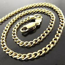A158 GENUINE REAL 18K YELLOW G/F GOLD SOLID LADIES FINE PENDANT NECKLACE CHAIN