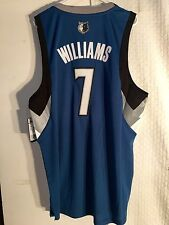 Adidas Swingman NBA Jersey Minnesota Timberwolves Derrick Williams Blue sz M