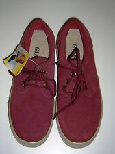 NEW Brick Red Suede Leather Lace Up Chunky Sole Flats Size 36/3-3.5 Gialas