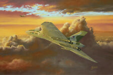 Avro Vulcan Black Buck Falklands 1982 Bomber Plane Painting Aviation Art Print