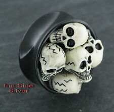 TOTENKOPF Plug Oldschool Piercing 24MM Ohrring Tunnel Skull Ohrpiercing