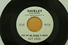 RAY AGEE You Hit Me Where It Hurts/Tin Pan Alley 45 (Shirley) Popcorn Soul HEAR